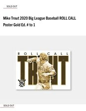 Mike Trout 2020 Topps Big League Baseball Roll Call Poster Card 1 of 1 Gold /1🔥