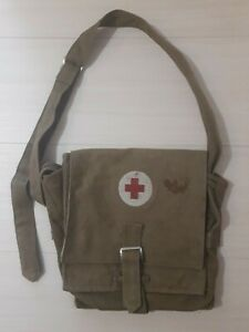 Soviet military medical bag Red Cross Army Russia Old