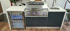Outdoor Kitchen FREE BBQ or Beefeater, Weber is extra 2170mm Stone/Comp/AlmnDrs
