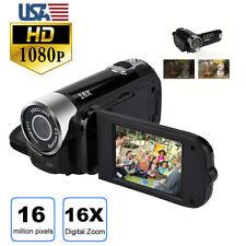 2.7in Full HD Digital 1080P Video Camera Camcorder DV Handheld Vlogging LCD 270°