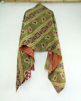 Cotton Kantha Scarf Head Wrap Stole Dupatta Quilted Women Shawl Stitched SW93