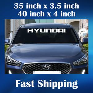HYUNDAI Windshield Sticker Decal Auto Car Vinyl Sticker Banner Decals