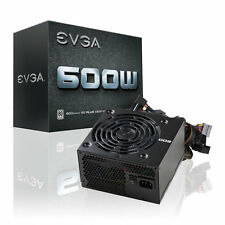 EVGA 600 600W Gaming PC PSU Power Supply 80 Plus Rated 120mm Fan