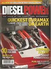Diesel Power Magazine - February 2008 - Quickest Duramax on Earth and More!
