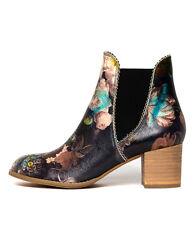 New Django & Juliette Sadore Black Floral Womens Shoes Dress Boots Ankle