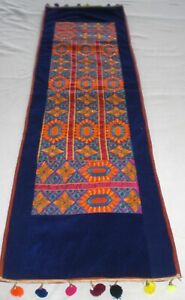 HANDMADE EMBROIDERED PATCHWORK WALL HANGING RUNNER