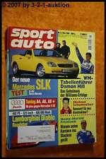 Sport Auto 5/96 Audi S6 DB E 50 Diablo Roadster DB SLK