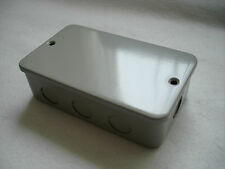 METAL CLAD 2 GANG BOX  WITH LID BLANKING OFF BOX C/W KNOCKOUTS CONDUIT END BOX