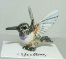 More details for little critterz miniature porcelain bird black-chinned hummingbird
