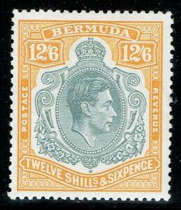 Bermuda 1938 SG120e 12/6 Grey & Pale Orange P13 Superb V/L/M/M Cat. £100.00