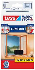 Tesa Insect Stop Fliegengitter Comfort Insektenschutz Anthrazit 120 cm x 240 cm