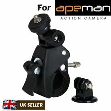 Bike Handlebar Mount Bicycle Clamp for Apeman A60 A66 A70 A80 Action Cameras