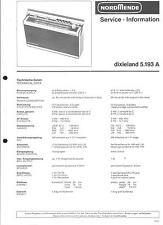 Nordmende original Service Manual para dixieland 5.193a