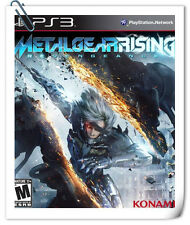PS3 METAL GEAR RISING: REVENGEANCE MGR Sony Action Adventure Games Konami
