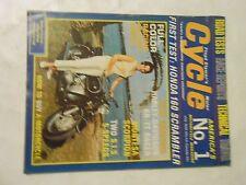 JULY 1966 CYCLE MAGAZINE,HONDA 160 SCRAMBLER,MONTESA SCORPION,HARLEY KR-TT RACER