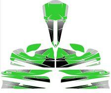 CUSTOM M4 FULL KART STICKER KIT - GREEN - KARTING - GO KART - JakeDesigns