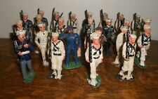 Large Lot 24 Pieces World War II Era Lead Toy Soldiers + 1 Plastic Piece