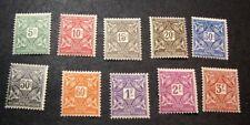 Burkina Fasco Stamp Scott#  J11-J20 Postage Due 1928  MH L98