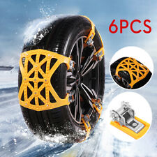 6X Car SUV Snow Tire Chains Thickened Anti-skid Emergency Strap Beef Tendon US