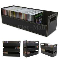 CD DVD Disk Storage Box Case Rack Holder Stacking Tray Shelf Space Organizer New