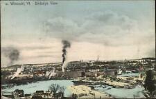 Woodstock VT Birdseye View c1910 Postcard