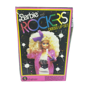 VINTAGE 1986 BARBIE AND THE ROCKERS DRESS UP SET COLORFORMS IN BOX NOT COMPLETE