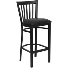 Flash Furniture Metal Restaurant Bar Stool, Black - XU-DG6R8BSCH-BAR-BLKV-GG
