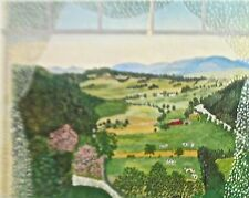 Grandma Moses Reprint of  Hoosick Valley from My Window 20X14 Offset Lithograph