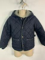BOYS UNITED COLOURS OF BENETTON BLUE QUILTED HOOD RAINCOAT JACKET KID AGE 5 YRS
