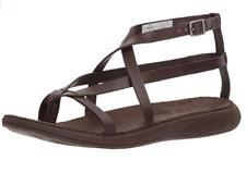 Merrell Women's Duskair Seaway Thong Leather Sandal Brown Bracken US Sz 7 J94258