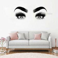 New Eye Eyelashes Wall Decal Vinyl Home Wall Sticker Large Eyebrows Wallpaper