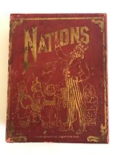 Vintage Patriotic Game Of Nations - Complete - Milton Bradley - Copyright 1908!
