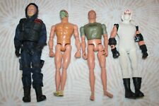 "GI G.I. JOE LOT OF FOUR 12"" FIGURES W/ ACCESSORIES WEAPONS GUNS ETC."