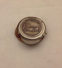 Antq Chauffeur Taxi Driver Leather & Metal Coin Cap Shaped Purse,St Joseph's, NY