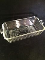 Vintage Glasbake USA Clear Glass #59 Baking Bread Loaf Pan Bakeware Ovenware