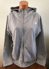 The North Face Women's Terry Full Zip RTO Hoodie Jacket Light Gray XS Sweatshirt