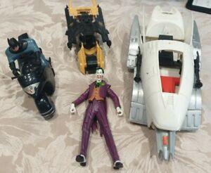 Vintage 90s Batman Job Lot , DC Comics , Bat vehicle, Bike & Figures