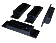 4 x Rubber Tipper Block Pad Mild Steel Landing Buffer Trailer 150mm Wekd on HGV