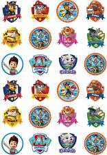 24 Paw Patrol Cupcake Fairy Cake Toppers Edible Rice Wafer Paper Decorations