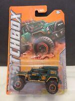 2011 Matchbox Jeep Wrangler Superlift 51/120 Mountain Blue Die-Cast Metal RL#90