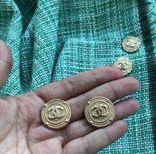 buttons CC logo CHANEL 5 pcs set