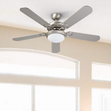 """55W 52"""" Ceiling Fan with Remote Control 2 Led Lights 5 Reversible Blades & More"""