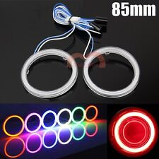 2x 85mm Red COB LED Angel Eyes Car Headlight Halo Ring Lights Warning Lights DRL