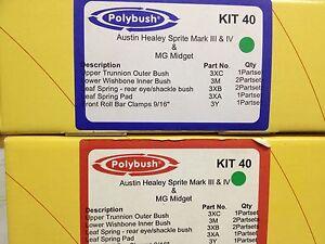 GENUINE POLYBUSH KIT40 MG MIDGET AUSTIN HEALEY SPRITE MK3 4 RED IN STOCK READY