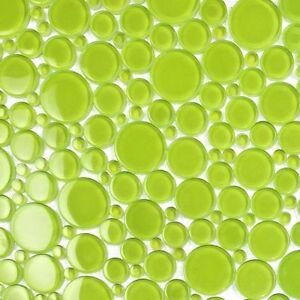 Apple Green Bubble Glass Mosaic Tile