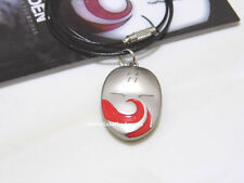 Japanese Anime Naruto Haku's mask shape alloy metal necklace/pendant white&red!