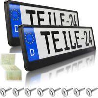 2x Kennzeichenhalter  SCHWARZ  Kennzeichenhalterung  neu   DHL Versand