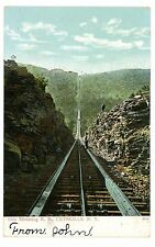 Palenville NY -VIEW UP OTIS INCLINE RAILWAY FROM ROCK CUT- Postcard Catskills