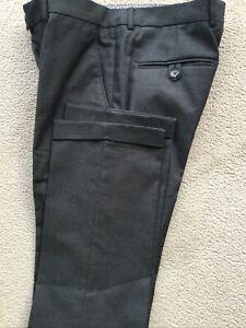 ZARA MAN Grey Trousers Wool Mix 30Waist Turn Up Worn Once