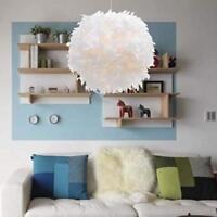 Moderne boule de plume lumière abat-jour plafonnier lampe suspension de salon